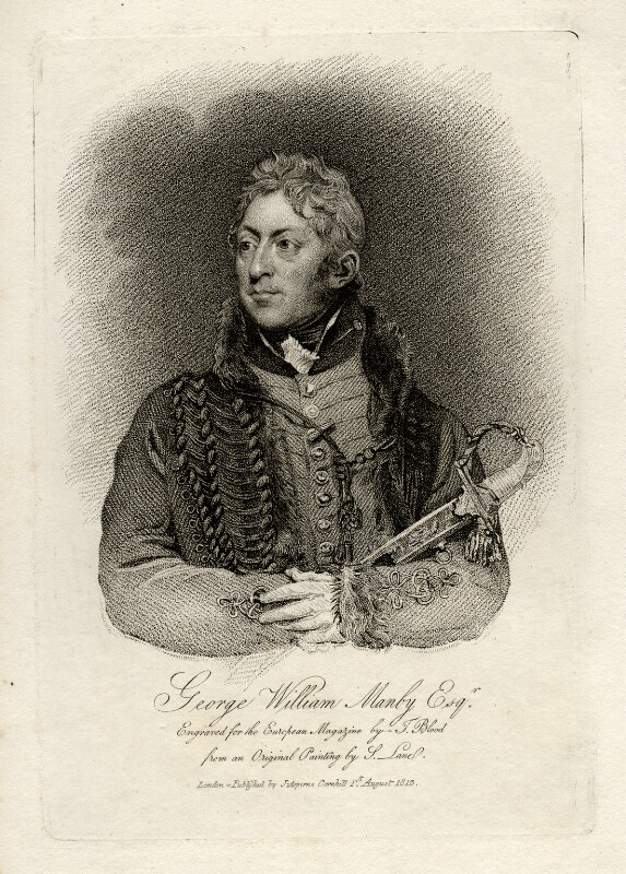 George William Manby, by Thomas Blood, published by  James Asperne, after  Samuel Lane, published 1813 - NPG D16710 - © National Portrait Gallery, London
