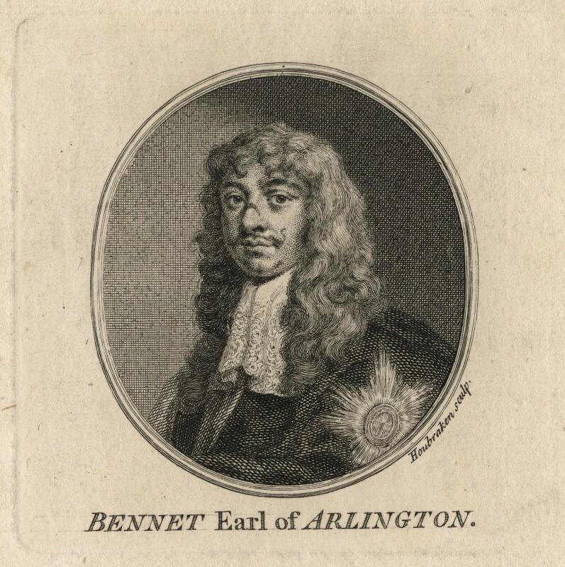 Henry Bennet, 1st Earl of Arlington, by Jacobus Houbraken, after  Sir Peter Lely, published 1757 - NPG D16723 - © National Portrait Gallery, London