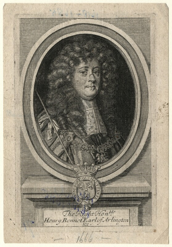 Henry Bennet, 1st Earl of Arlington, after Sir Peter Lely, late 17th or early 18th century - NPG D16722 - © National Portrait Gallery, London