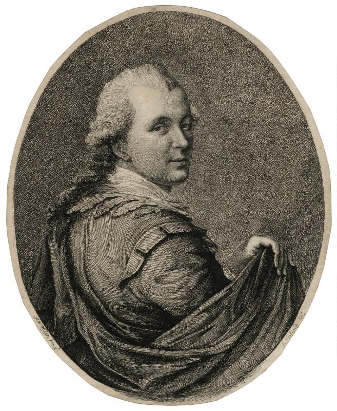 Samuel Ireland, by Samuel Ireland, after  Hugh Douglas Hamilton, (1776) - NPG D16753 - © National Portrait Gallery, London