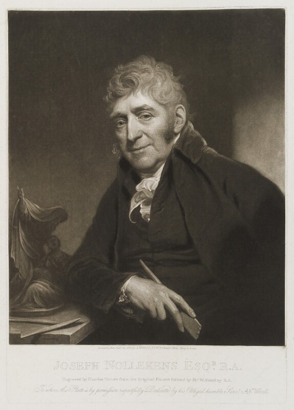 Joseph Nollekens, by Charles Turner, published by  Abraham Wivell, after  Sir William Beechey, published 24 December 1814 - NPG D19879 - © National Portrait Gallery, London
