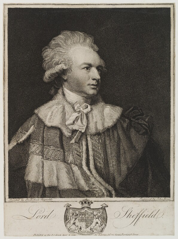 John Baker Holroyd, 1st Earl of Sheffield, by and published by John Jones, after  Sir Joshua Reynolds, published 6 April 1789 (1788) - NPG D19889 - © National Portrait Gallery, London