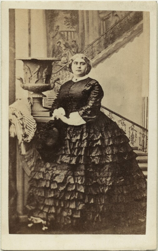 Princess Mary Adelaide, Duchess of Teck, by Camille Silvy, 9 October 1860 - NPG x126766 - © National Portrait Gallery, London