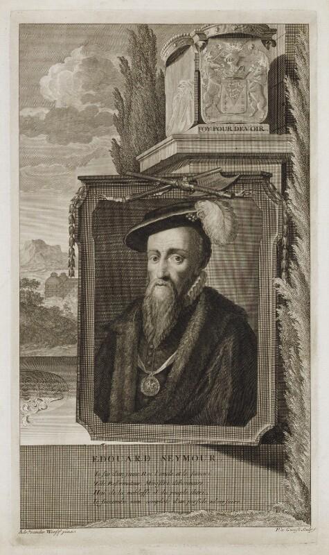 Edward Seymour, 1st Duke of Somerset, by Pieter Stevens van Gunst, after  Adriaen van der Werff, 1697 - NPG D19906 - © National Portrait Gallery, London