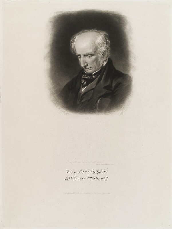 William Wordsworth, by and published by Thomas Goff Lupton, after  Benjamin Robert Haydon, published 1 November 1848 (1842) - NPG D19912 - © National Portrait Gallery, London