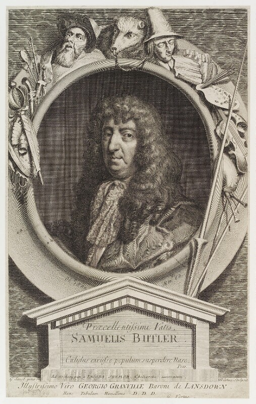 Samuel Butler, by George Vertue, after  Gilbert Soest, engraved 1730 - NPG D19940 - © National Portrait Gallery, London