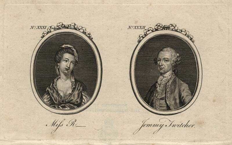 Martha Ray; John Montagu, 4th Earl of Sandwich, after Unknown artists, published 1769 - NPG D16795 - © National Portrait Gallery, London