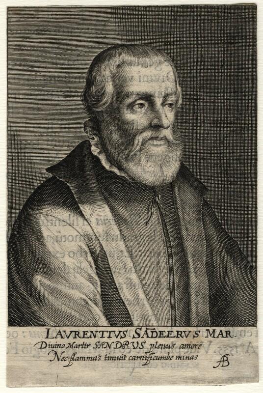 Laurence Saunders, by Magdalena de Passe, by  Willem de Passe, published 1620 - NPG D16805 - © National Portrait Gallery, London