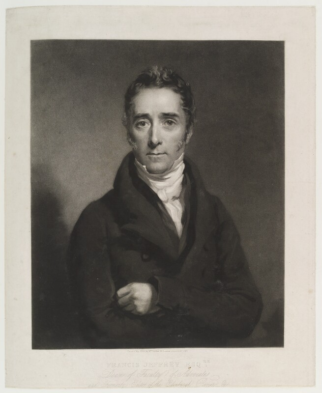 Francis Jeffrey, Lord Jeffrey, by Samuel Cousins, published by  William Walker, after  Colvin Smith, published May 1830 - NPG D19998 - © National Portrait Gallery, London