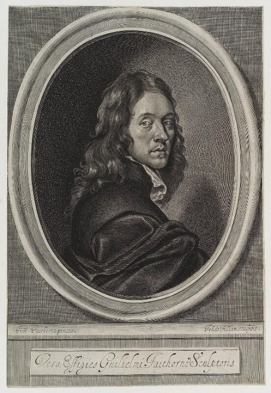 William Faithorne, by John Fillian, after  William Faithorne, circa 1660-1680 - NPG D20002 - © National Portrait Gallery, London