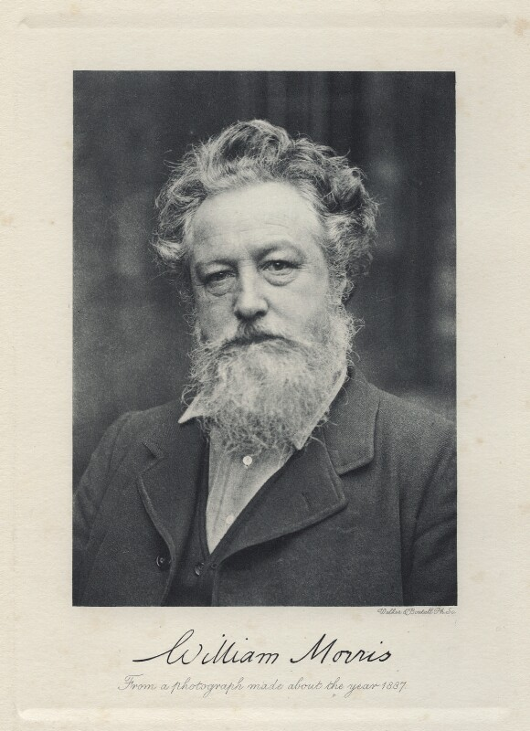 William Morris, by Sir Emery Walker, printed by  Walker & Cockerell, published 1909 (19 January 1889) - NPG Ax19697 - © National Portrait Gallery, London