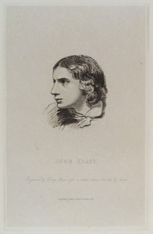John Keats, by Henry Meyer, published by  Henry Colburn, after  Joseph Severn, 1828 - NPG D20019 - © National Portrait Gallery, London