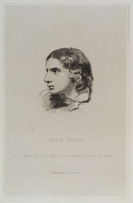 John Keats, by Henry Meyer, published by  Henry Colburn, after  Joseph Severn, 1828 - NPG D20019 - © National Portrait Gallery, London