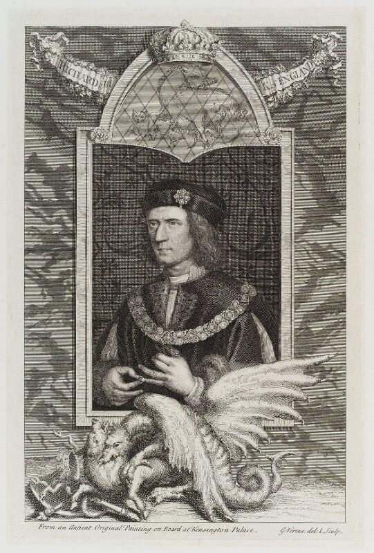 King Richard III, by George Vertue, engraved 1735 - NPG D20033 - © National Portrait Gallery, London