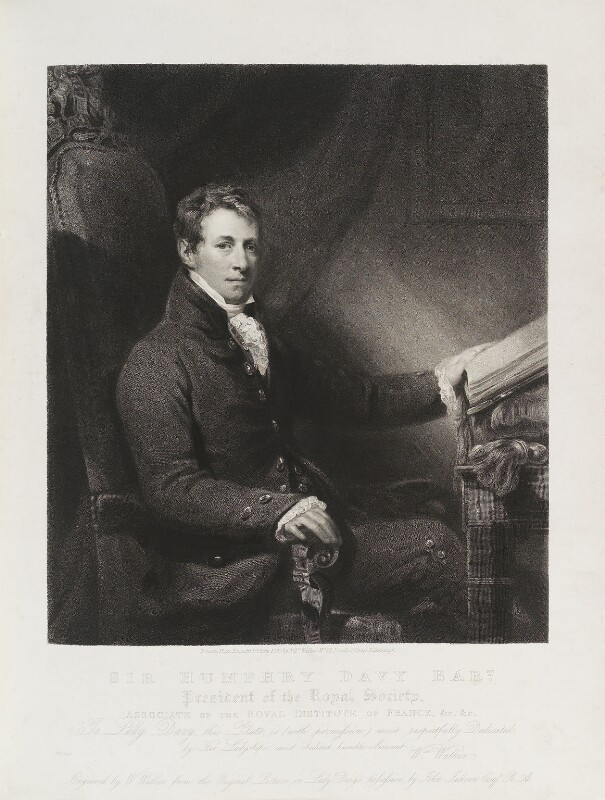 Sir Humphry Davy, Bt, by and published by William Walker, after  John Jackson, published 1 June 1830 (circa 1820) - NPG D20065 - © National Portrait Gallery, London