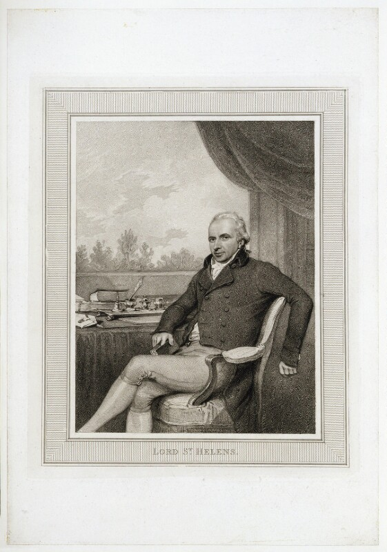 Alleyne Fitzherbert, Baron St Helens, after Henry Edridge, (1801) - NPG D20072 - © National Portrait Gallery, London