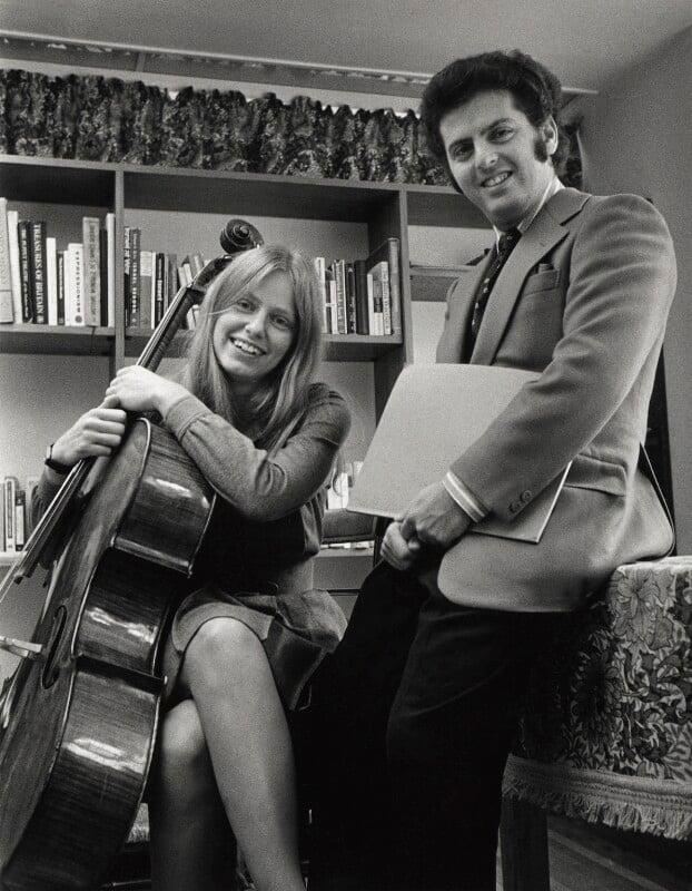 Jacqueline du Pré; Daniel Barenboim, by Clive Barda, circa 1972 - NPG x45151 - © Clive Barda