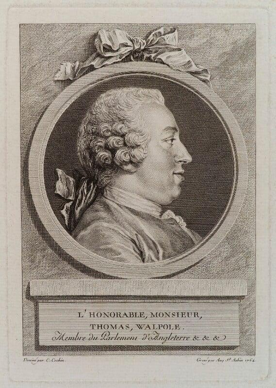 Thomas Walpole, by Augustin de Saint-Aubin, after  Charles Nicolas Cochin, 1764 - NPG D20119 - © National Portrait Gallery, London