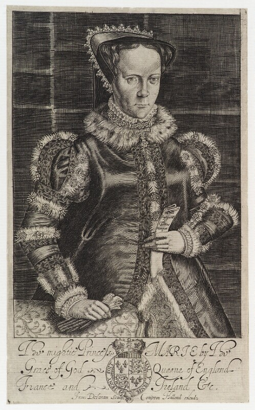 Queen Mary I, by Francis Delaram, published by  Compton Holland, circa 1600-1627 - NPG D20124 - © National Portrait Gallery, London