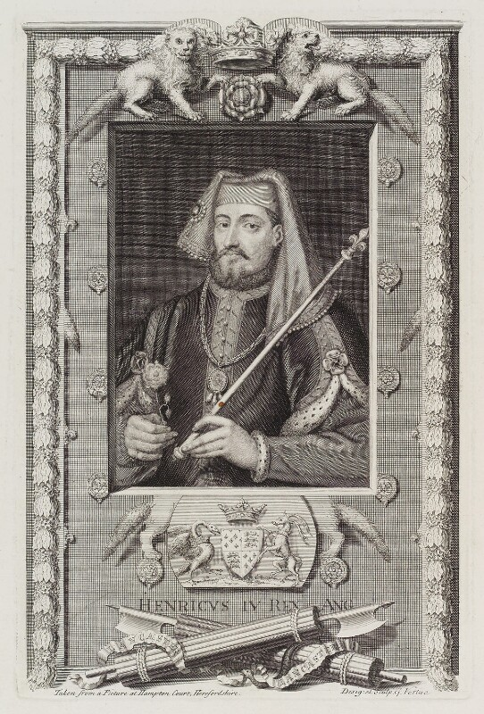 King Henry IV, by George Vertue, published 1745 - NPG D20132 - © National Portrait Gallery, London