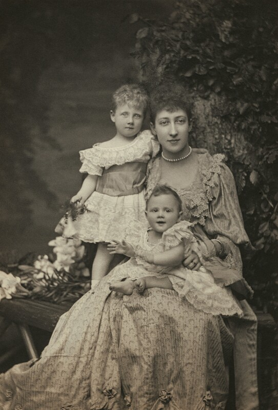 Princess Alexandra, Princess Arthur of Connaught; Princess Louise, Duchess of Fife; Princess Maud, Countess of Southesk, by Alice Hughes, 1894 - NPG x45047 - © National Portrait Gallery, London