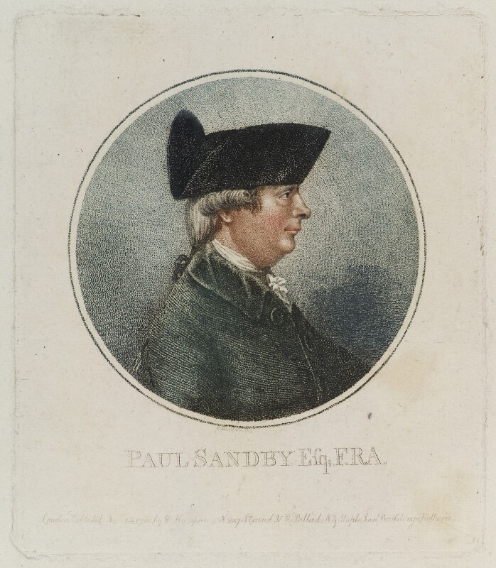 Paul Sandby, by and published by Robert Pollard, published by  William Humphrey, published 14 November 1780 - NPG D20156 - © National Portrait Gallery, London
