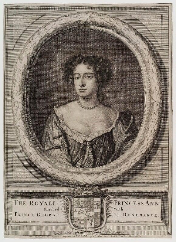 Queen Anne, published by Nicolaes Visscher II, circa 1675-1700 - NPG D20196 - © National Portrait Gallery, London