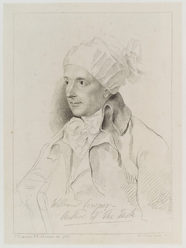 William Cowper, by William Blake, after  Sir Thomas Lawrence, 1802 (1793) - NPG D20230 - © National Portrait Gallery, London