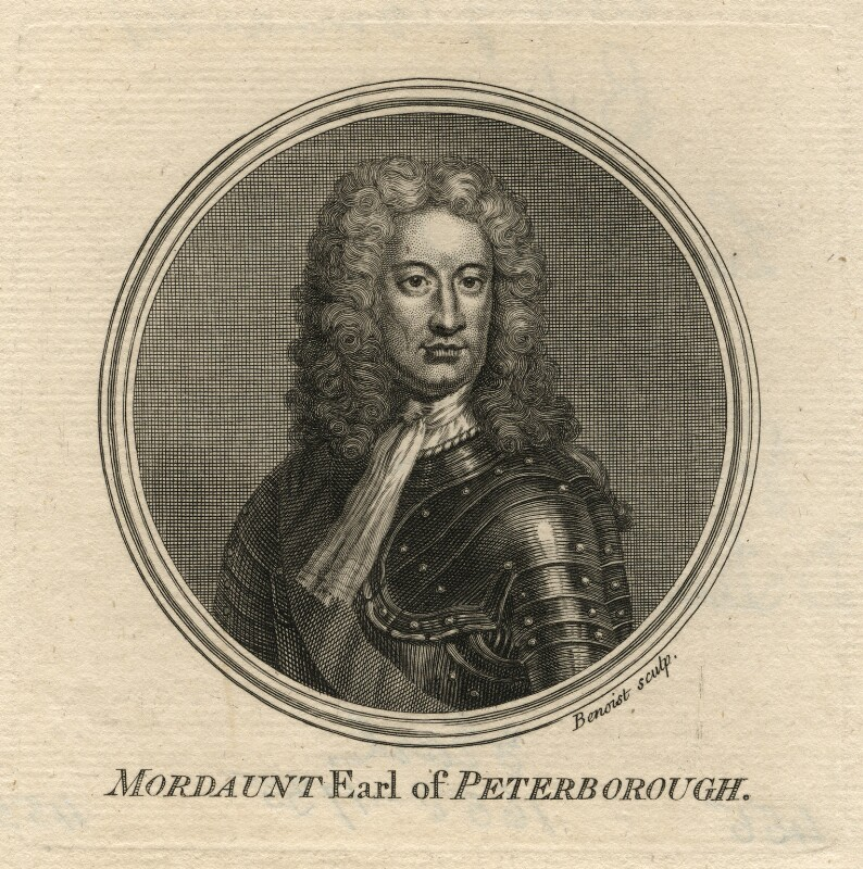 Charles Mordaunt, 3rd Earl of Peterborough, by Guillaume Philippe Benoist, after  Sir Godfrey Kneller, Bt, published 1757 - NPG D16677 - © National Portrait Gallery, London