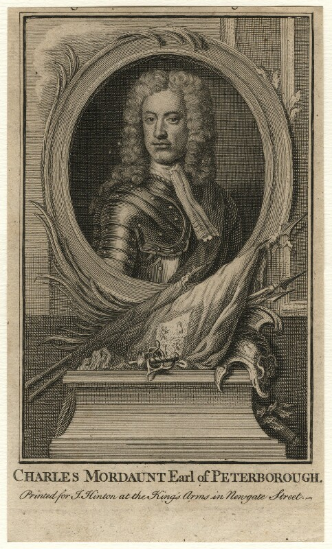 Charles Mordaunt, 3rd Earl of Peterborough, after Sir Godfrey Kneller, Bt, published circa 1747-1753 - NPG D16680 - © National Portrait Gallery, London