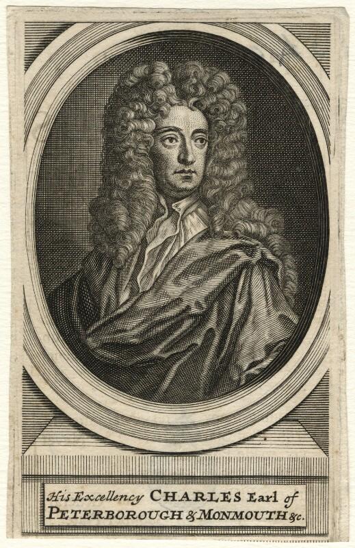 Charles Mordaunt, 3rd Earl of Peterborough, after Sir Godfrey Kneller, Bt, (circa 1689-1697) - NPG D16682 - © National Portrait Gallery, London