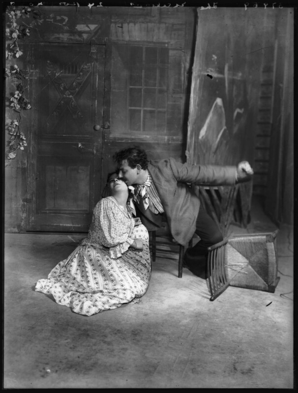 Mimi Aguglia-Ferrau as Iana and Giovanni Grasso as Ninu in 'Malia', by Bassano Ltd, 1908 - NPG x104226 - © National Portrait Gallery, London