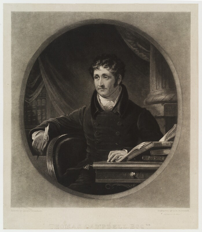 Thomas Campbell, by Samuel William Reynolds, after  James Lonsdale, published 1826 - NPG D20303 - © National Portrait Gallery, London