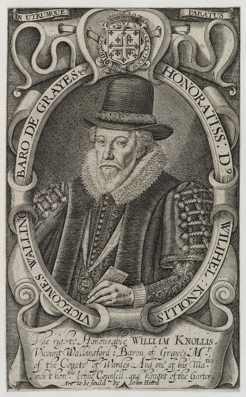 William Knollys, Earl of Banbury, published by John Hinde, circa 1620 - NPG D20322 - © National Portrait Gallery, London