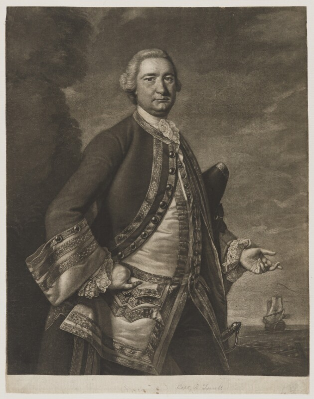 Richard Tyrrell, by James Macardell, after  Thomas Hudson, circa 1750-1765 - NPG D20356 - © National Portrait Gallery, London