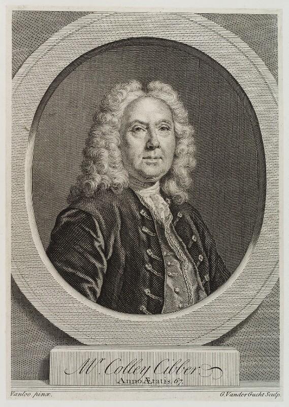 Colley Cibber, by Gerard Vandergucht, after  Jean Baptiste van Loo, published 1740 - NPG D20375 - © National Portrait Gallery, London