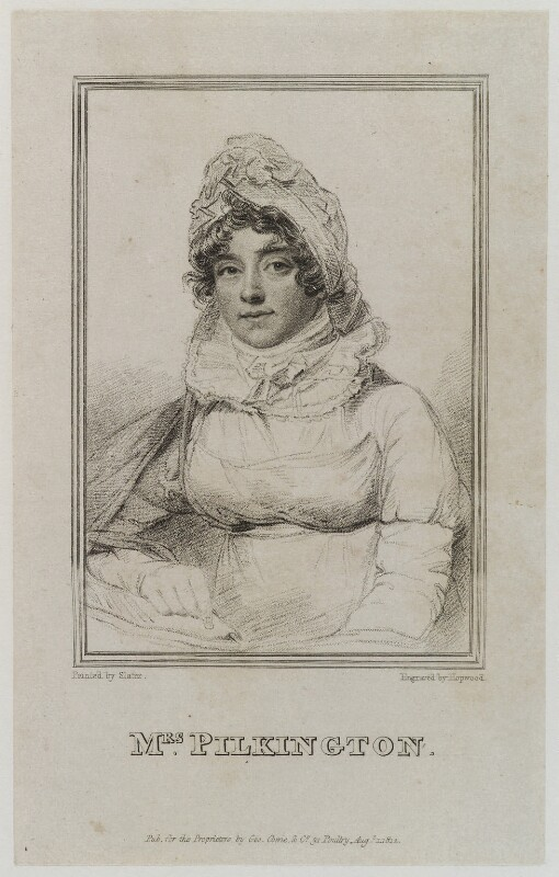 Mary Pilkington (née Hopkins), by James Hopwood Sr, published by  George Cowie, after  Joseph Slater, published 1 August 1812 - NPG D20381 - © National Portrait Gallery, London