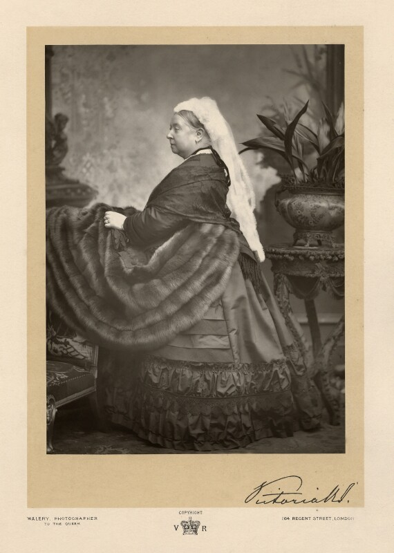 Queen Victoria, by Walery, published by  Sampson Low & Co, published December 1889 - NPG x7261 - © National Portrait Gallery, London