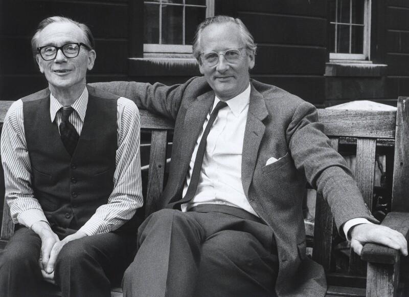Sir William Menzies Coldstream; Ian Evers Tregarthen Jenkin, by Harry Diamond, August 1975 - NPG x4118 - © National Portrait Gallery, London
