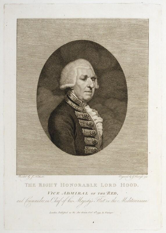 Samuel Hood, 1st Viscount Hood, by Franz Gabriel Fiesinger, after  James Northcote, published 8 October 1793 - NPG D20406 - © National Portrait Gallery, London
