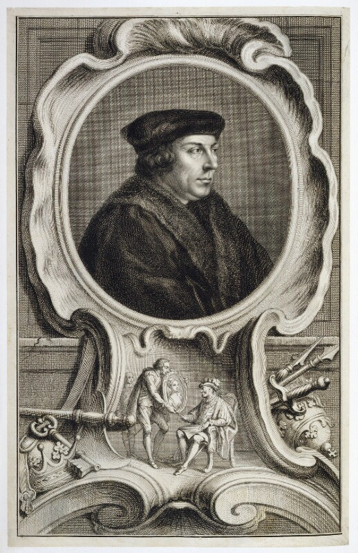 Thomas Cromwell, Earl of Essex, by Jacobus Houbraken, published by  John & Paul Knapton, after  Hans Holbein the Younger, published 1739 - NPG D20420 - © National Portrait Gallery, London