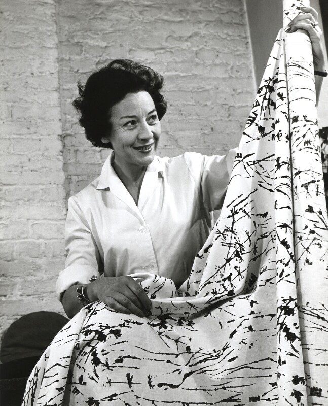 Lucienne Day (née Conradi), by John Gay, 1950s - NPG x126627 - © National Portrait Gallery, London