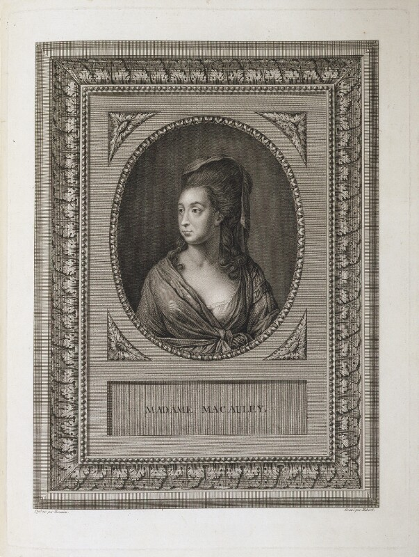 Catharine Macaulay (née Sawbridge), by François Hubert, after  Bonnieu, after 1760 - NPG D20464 - © National Portrait Gallery, London