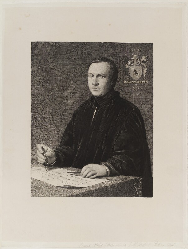 Augustus Pugin, by James Henry Lynch, after  John Rogers Herbert, published 1853 - NPG D20474 - © National Portrait Gallery, London