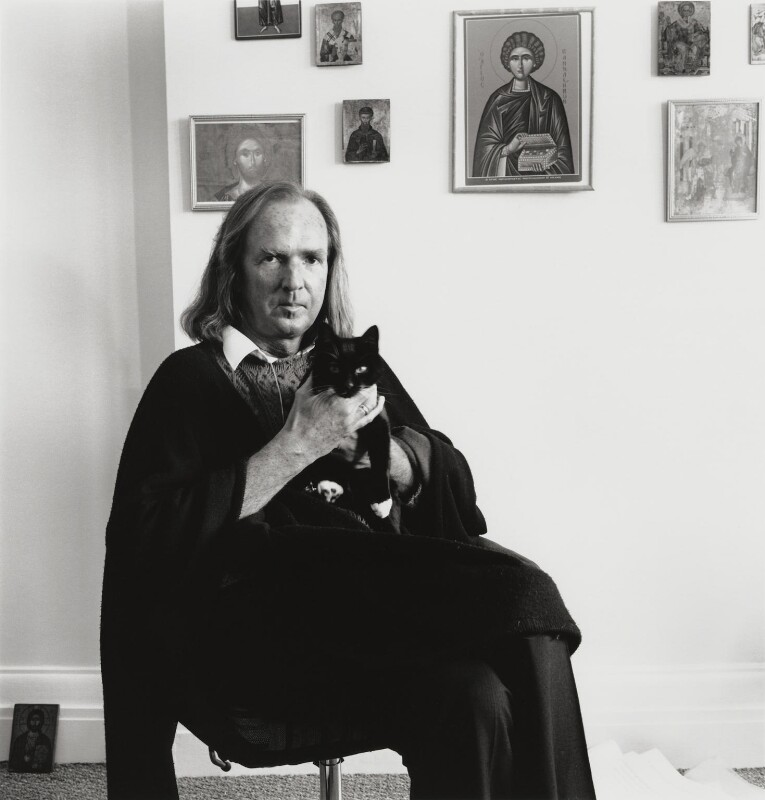 Sir John Kenneth Tavener, by George Newson, Spring 1992 - NPG x46483 - © George Newson / Lebrecht Music & Arts