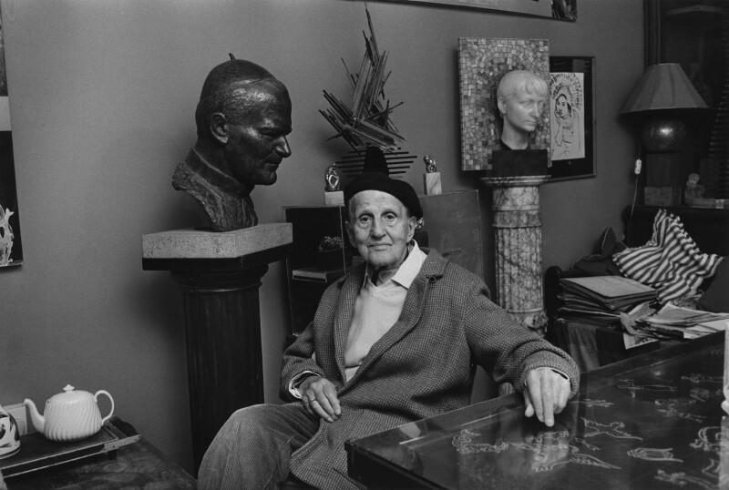 Arthur Fleischmann, by Anne-Katrin Purkiss, June 1986 - NPG x29285 - © National Portrait Gallery, London