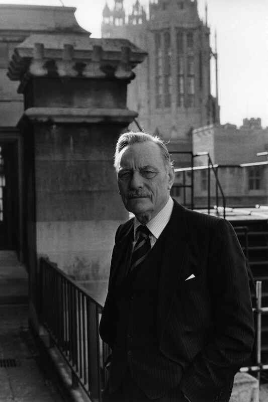 Enoch Powell, by Anne-Katrin Purkiss, January 1987 - NPG x29287 - © National Portrait Gallery, London