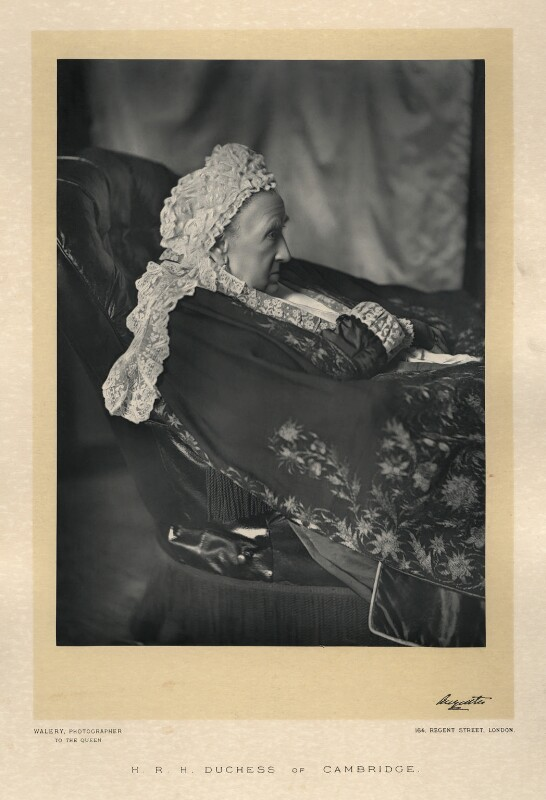 Princess Augusta Wilhelmina Louisa, Duchess of Cambridge, by Walery, published by  Sampson Low & Co, published April 1889 - NPG x9115 - © National Portrait Gallery, London