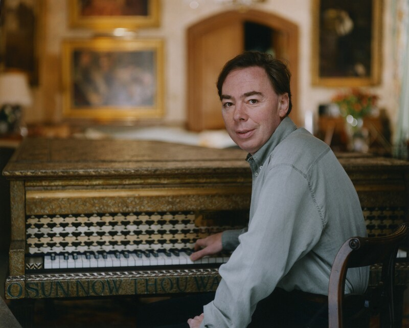Andrew Lloyd Webber, Baron Lloyd Webber, by John Swannell, 7 October 1995 - NPG x76671 - © John Swannell / Camera Press