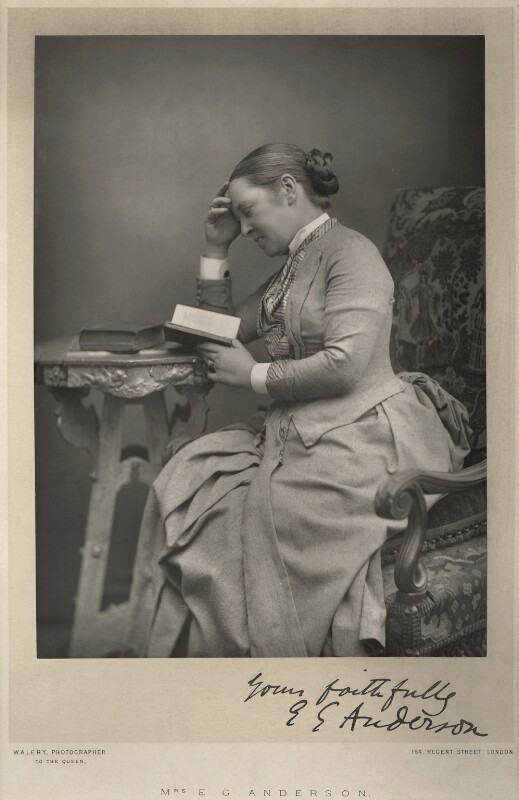Elizabeth Garrett Anderson, by Walery, published by  Sampson Low & Co, published February 1889 - NPG x8446 - © National Portrait Gallery, London
